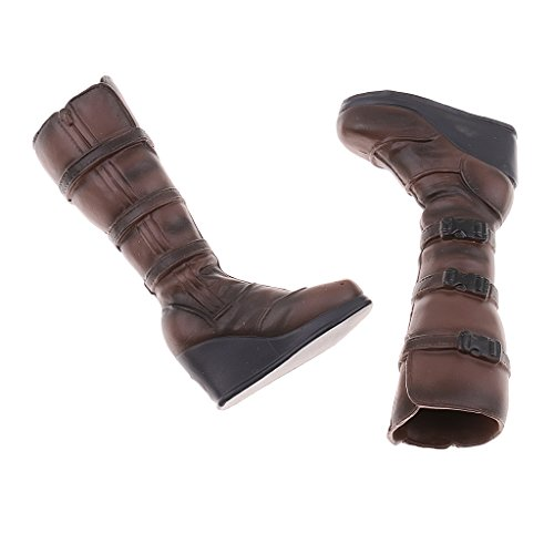 Shoes 6 12'' High for Parts Female Black Boots 1 Women Body Homyl Knee Figure amp;Brown FZwxT00q