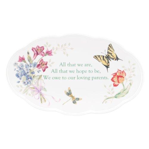 Lenox Butterfly Meadow Bouquet Parent Wedding Plate