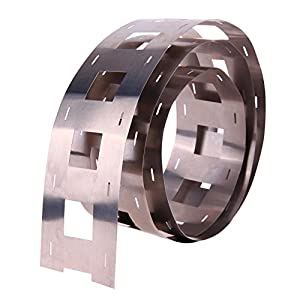 Alloet 1M 0.247.5mm Pure Ni Plate Nickel Strip Tape for 32650 Battery Welding