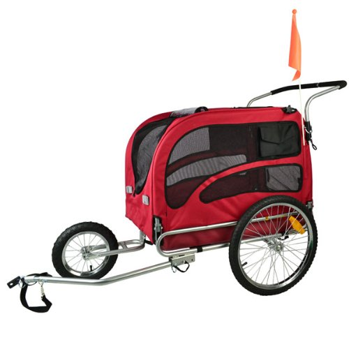 Doggyhut Large Pet Bike Trailer / Jogger Kit Dog Bicycle Carrier Red 7030201 by Veelar (Image #7)