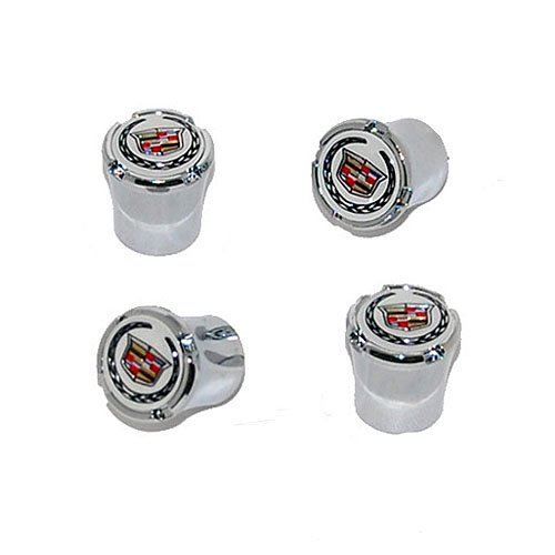 Cadillac Chrome Tire Valve Stem Caps