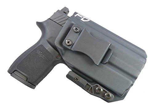 Fierce Defender IWB Kydex Holster Sig P320c w/Olight PL-Mini Valkyrie The Paladin Series -Made in USA- (Black)