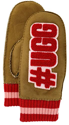 UGG Womens #Ugglife Patch Mitten, Chestnut, Size Large/X-Large, used for sale  Delivered anywhere in USA