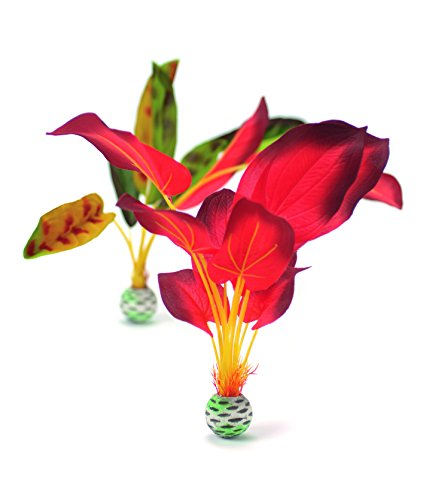 - biOrb Silk Plant Set Large Green & red