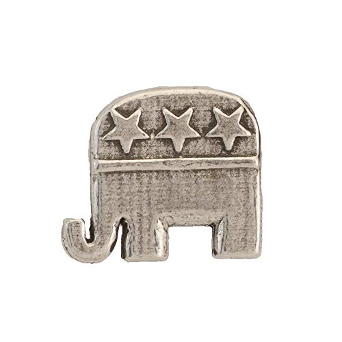 Republican Elephant Pewter Pin, A1030MP