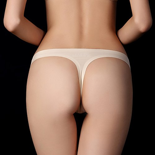Damen Strings Tangas Unterhose Panties von COLLEER, Sexy ultra Soft Bequem Nahtlos Alltags Hüftslip Tangas Panty Slips 3 Pack (XL, 3Haut)
