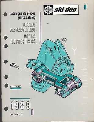 1989 Ski Doo Snowmobile Tools And Accessories Parts Manual P N 480 1240 00  379