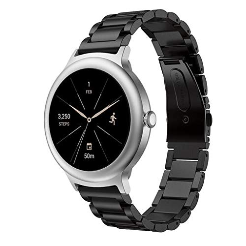 Junshion Genuine Stainless Steel Bracelet Smart Watch Band Strap for LG Watch Style Watch Smart Watch Wrist ()