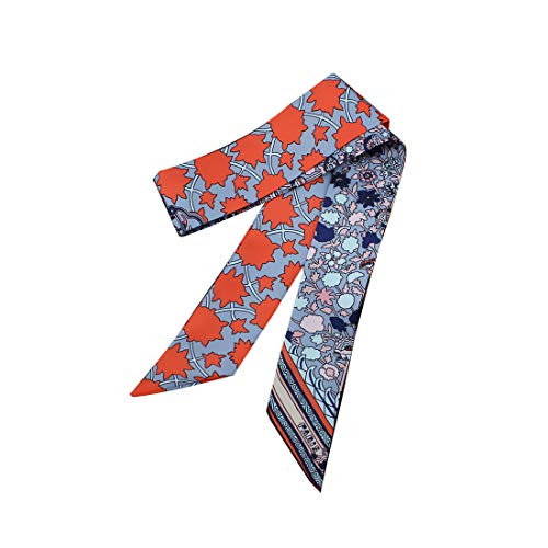 Maple Ribbon - Scarf for Women Bag Accessory Head Wrap Hair Neckerchief Tie Handle Ribbon Gifts (maple)