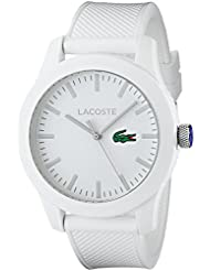 Lacoste Mens 2010762 Lacoste.12.12 White Watch with Textured Band