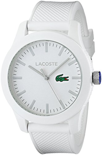 Lacoste Men's 2010762 Lacoste.12.12 White Watch with Textured Band (Watches Lacoste)