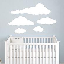 Cloud Wall Decals Baby Room Nursery Clouds Wall Vinyl Decal Stickers Playroom Kids Children Bedroom Murals Home Decor