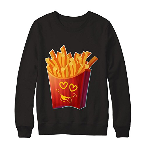 Teely Shop Women's Woman's French Fries Emoji Valentines Day Gildan - Pullover - Day T Fry Don
