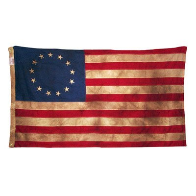 Valley Forge Heritage Series Colonial Antiqued United States Traditional Flag Size: 30'' x 48''