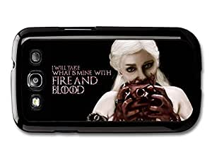 AMAF ? Accessories Game of Thrones Fire And Blood Emilia Clarke Targaryen Quote case for Samsung Galaxy S3