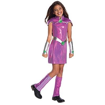 Rubie's Costume Girls DC Superhero Deluxe Starfire Costume, Small, Multicolor: Toys & Games