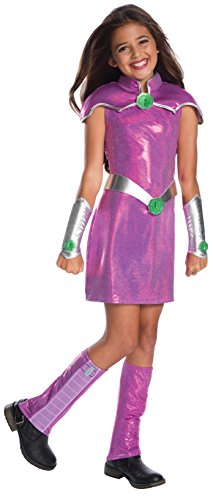 [Rubie's Costume Girls DC Superhero Deluxe Starfire Costume, Medium, Multicolor] (Un Costume For Girls)