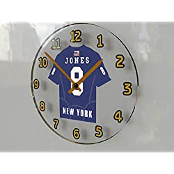 FanPlastic Daniel Jones 8 New York Giants Wall Clock - National Football League Legends Edition !!