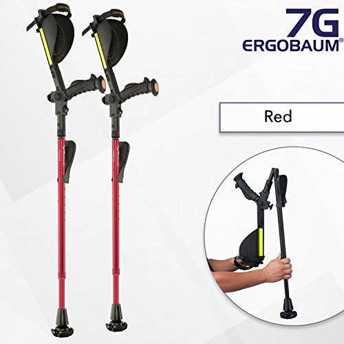 Ergobaum¨ Prime 7TH Generation by Ergoactives. 1 Pair (2 Units) of Ergonomic Forearm Crutches - Adult 5