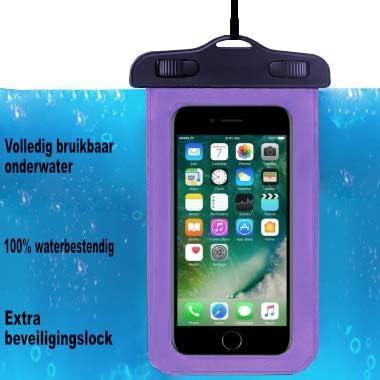 Adel Waterdichte PVC Onderwater Telefoonhoes Compatibel met General Mobile GM5 PlusPaars