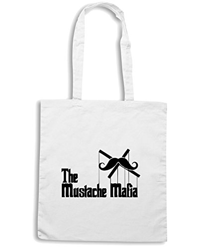 T-Shirtshock - Bolsa para la compra OLDENG00271 the mustache mafia white Blanco