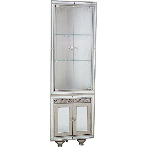 Mirrored Buffet Server (Aico Amini Bel Air Park Wedge Curio Cabinet in Champagne)
