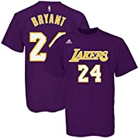 adidas L88711 The Go To Tee NBA Lakers #24 Kobe Bryant (Purple/Yellow - Large)