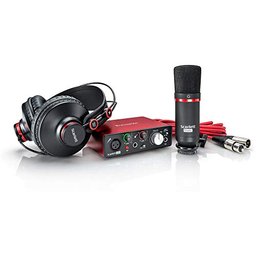 Focusrite Scarlett 2i2 Studio USB Audio Interface & Recording Bundle 2nd Gen +Deco Gear Adjustable Mic Arm +Deco Gear Pop Filter +Deco Gear XLR Male to Female Cable +1 Year Extended Warranty