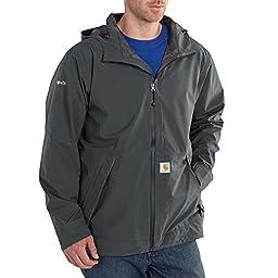Carhartt Men\'s Force Equator Rain Jacket,Shadow,X-Large