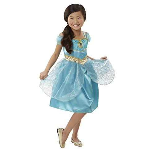 Disney Princess Jasmine Sing & Shimmer Dress, 1 Piece, Size: 4-6X, Turquoise [Amazon -