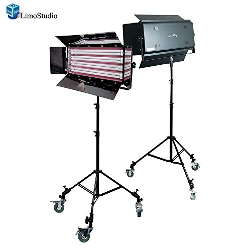 Limostudio Photography Photo Video Studio 1100W Digital Light Fluroescent 4-Bank Barndoor Light Panel, Agg1612 by LimoStudio