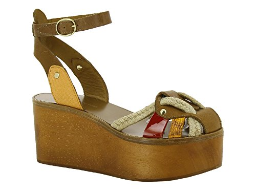 isabel-marant-womens-multi-color-leather-fabric-wedges-shoes-size-8-us