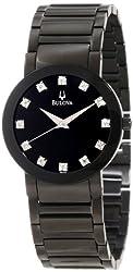 Bulova Men's 98D001 Diamond Accented Stainless Steel Bracelet Watch