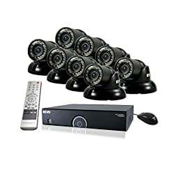 REVO America R165T8G-2T 16 Ch. 2TB 960H DVR Surveillance System with 8 700TVL 100 ft. Night Vision Mini Turret Cameras