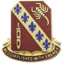 168th Regiment Unit Crest (Accomplished With Energy)