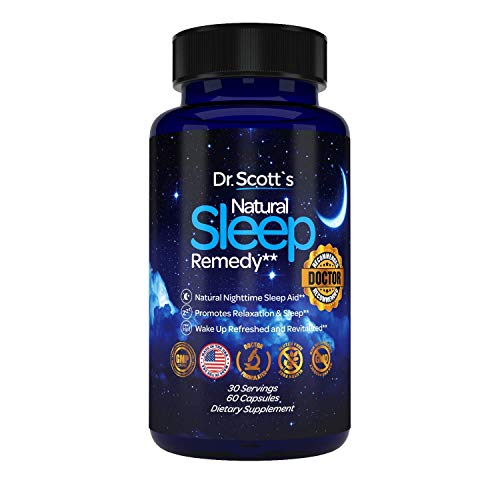 DR. Recommended - Natural Nighttime Sleep Aid - Herbal Sleep Supplement - Non Habit Forming Sleeping Pills - 5 Mg Melatonin with Magnesium L Tryptophan, L Theanine, GABA - Anxiety and Insomnia Relief