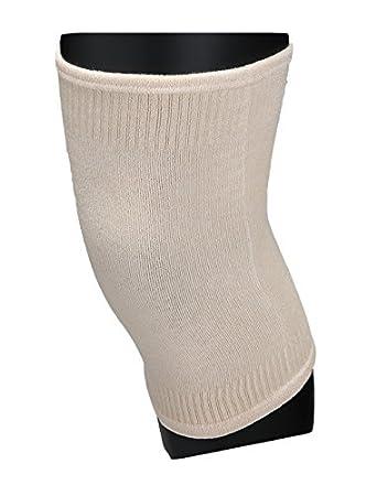eDealMax Unisex elástico de compresión rótulas rodilleras Ajustable Medio Calcetines Crema