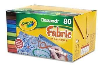 Crayola Fabric Marker 80Ct 10 Color Classpack By Crayola Llc