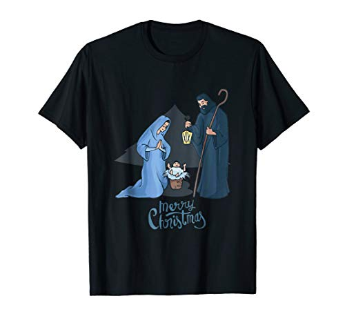 Merry Christmas Nativity Scene T-Shirt