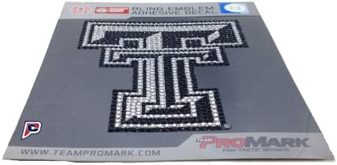 Patch Collection NCAA Texas Tech Red Raiders Bling Emblem 6.25-inches