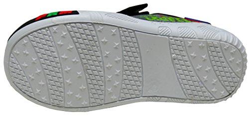 Gibra Zapatillas de Tela Para Niño blanco / rojo