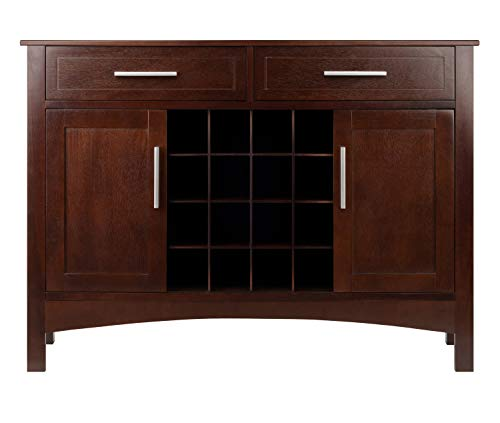 Winsome Wood 40543 Gordon Cabinet Buffet - Walnut Dining Room Sideboard