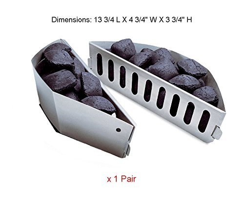 BBQ funland WG403 (1-Pair) Char-Basket Charcoal Briquet / Charcoal Fuel ()