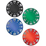 ZOOM001 Glittered Foil Poker Chip Cutouts