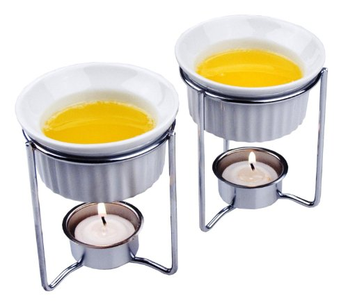 Fox Run Ceramic Butter Warmers, Set of - Run Ceramic Fox