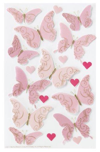 Martha Stewart Crafts Stickers, Valentine Butterfly