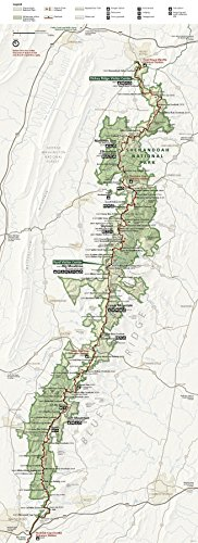 Wall Map of Shenandoah National Park in Virginia, 16 X 44 Inches