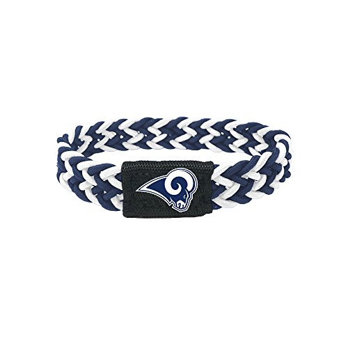 aminco Los Angeles Rams Bracelet Braided Navy White by aminco