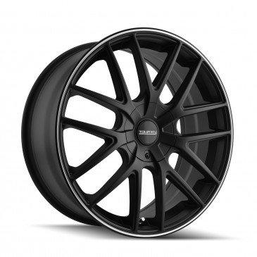 Touren TR60 18 Black Wheel / Rim 5x110 & 5x115 with a 40mm Offset and a 72.62 Hub Bore. Partnumber 3260-8811MB (Touren Wheels)