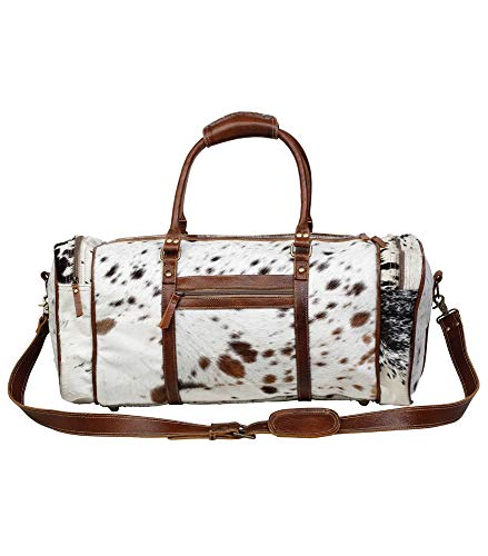 Myra Bag Amore Cowhide & Leather Duffle Travel Bag ()